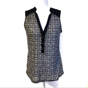 The Limited Sheer Patterned Tank Top
